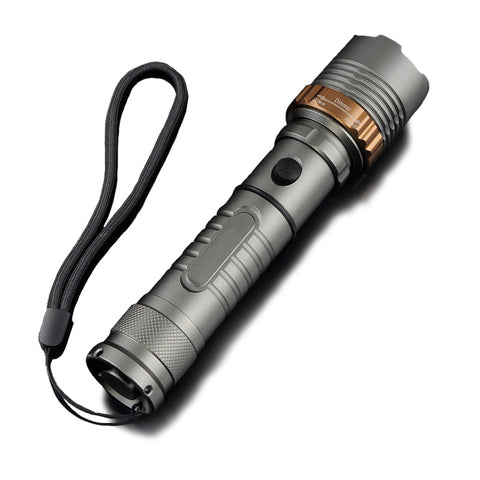 5 Mode Waterproof Camping Flashlight with Retractable Glass Breaker