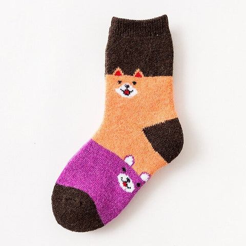 Winter Warm Cartoon Socks