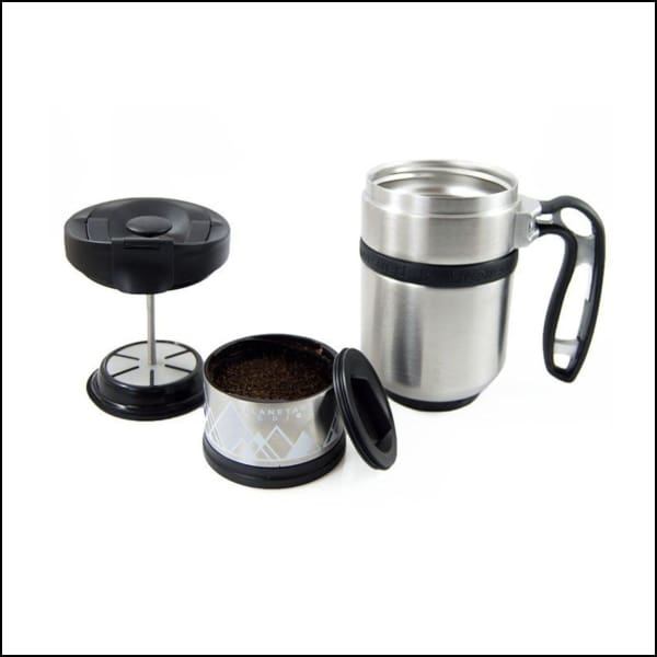 Double Shot Press With Bru-Stop - Brushed Steel - Coffee Press
