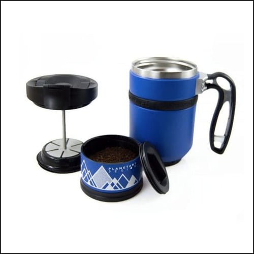 Double Shot Press With Bru-Stop - Mountain Lake (Blue) - Coffee Press