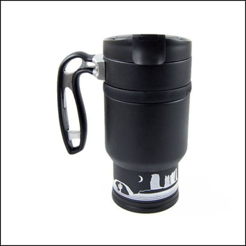 Double Shot Press With Bru-Stop - Obsidian (Black) - Coffee Press