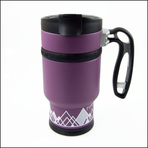 Double Shot Press With Bru-Stop - Wild Plum (Purple) - Coffee Press