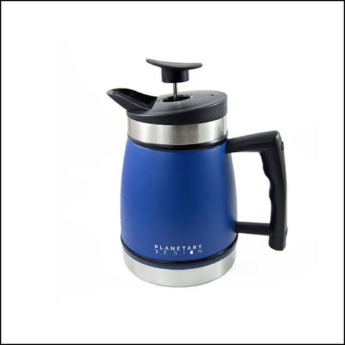 French Press With Bru-Stop 32oz - Mountain Lake Blue - French Press