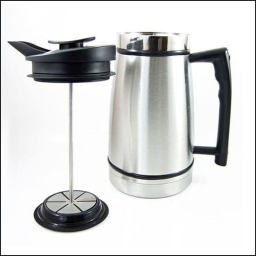 French Press With Bru-Stop 48oz - Brushed Steel - French Press
