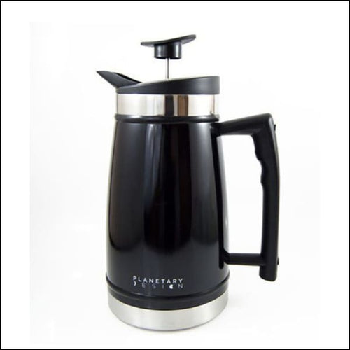 French Press With Bru-Stop 48oz - Obsidian (Black) - French Press