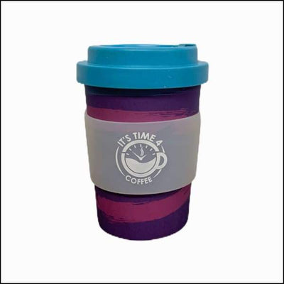 Perky Purple Reusable Coffee Cup 12oz - Takeaway Cup