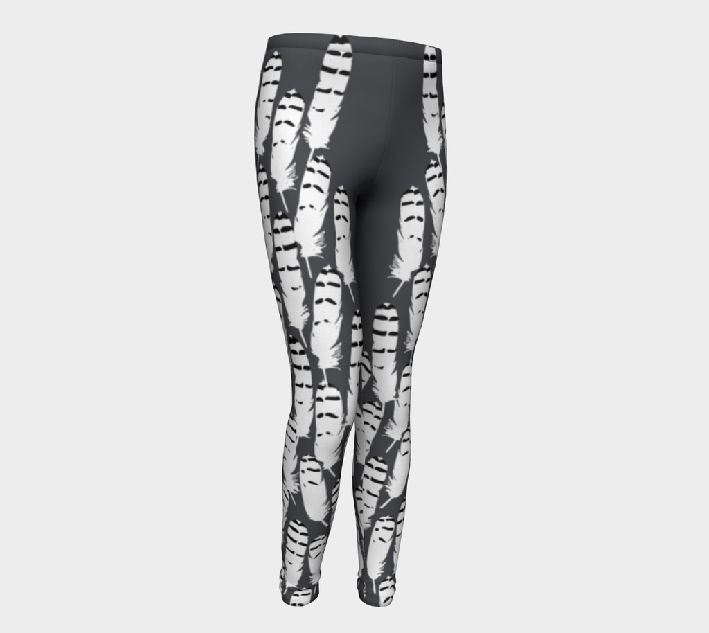 Youth Ukpik(Snowy Owl) Feather leggings