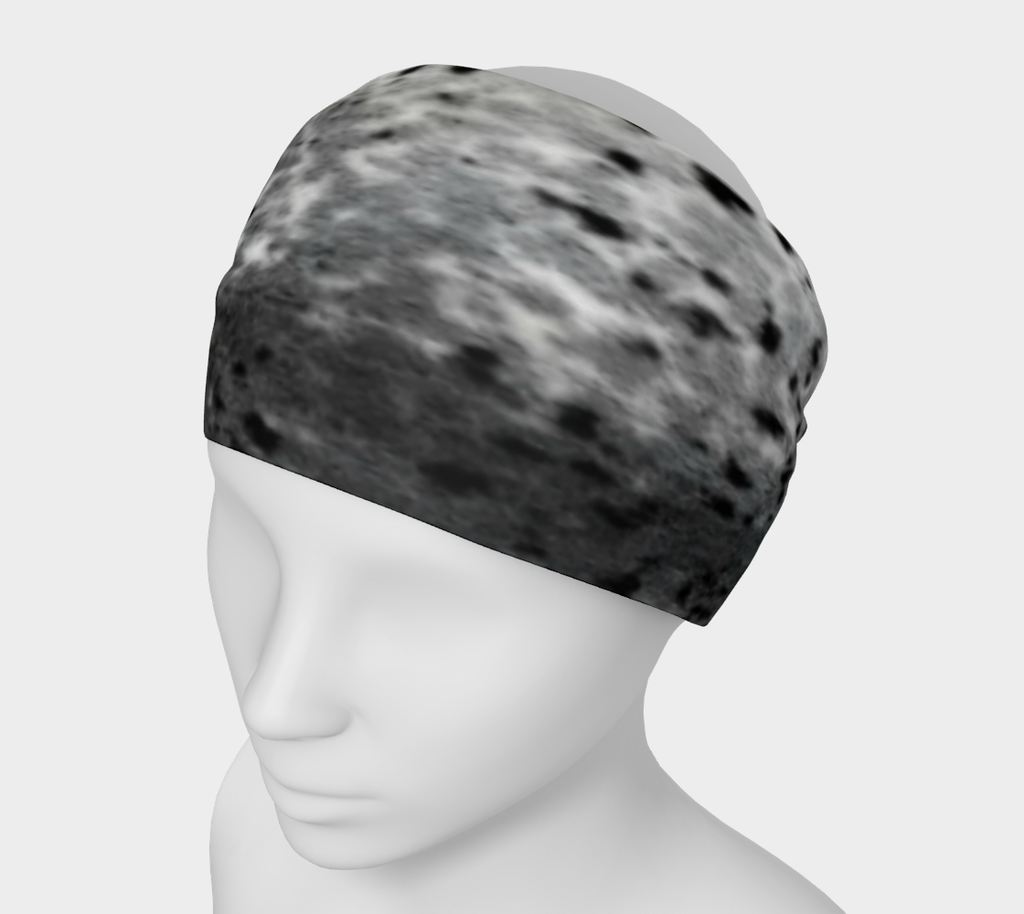 Spotted Sealskin Print Headwrap