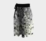 Sealskin Print wrap skirt