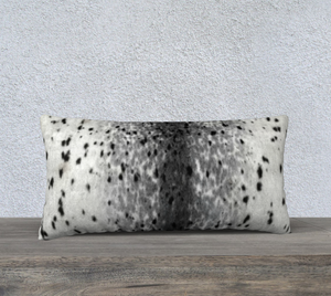 "Sealskin Print Pillowcase 24"" X 12"""