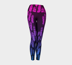Ukpik(Snowy Owl) Feather Yoga Leggings