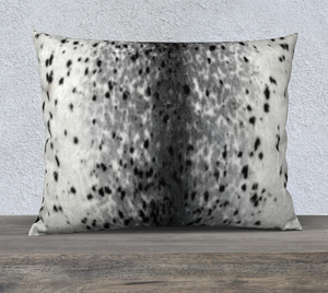 "Sealskin Print 26""X20"" Pillowcase Velveteen or Canvas"
