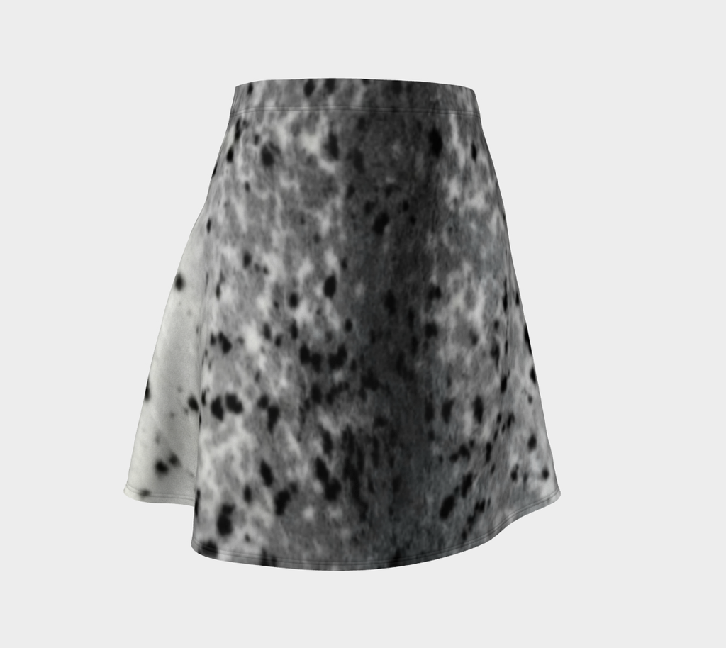 Sealskin Print Flare Skirt