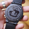 SON DAD - ALWAYS BESIDE YOU - WOOD WATCH