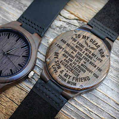 SON MUM - CALL YOU MY SON & MY FRIEND - WOOD WATCH