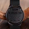 SON PARENTS 2 - AN AMAZING MAN -  WOOD WATCH