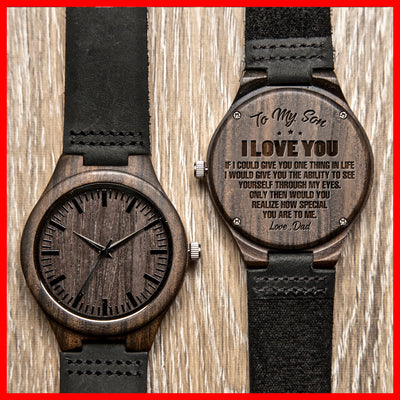 SON DAD - HOW SPECIAL - WOOD WATCH