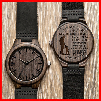 SON DAD - BELIEVE - WOOD WATCH