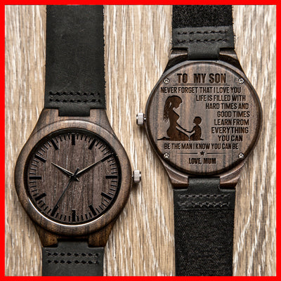 SON MUM - BE THE MAN - WOOD WATCH
