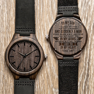 SON DAD - CARRY YOU - WOOD WATCH