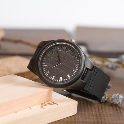 SON PARENTS 1 - AN AMAZING MAN -  WOOD WATCH