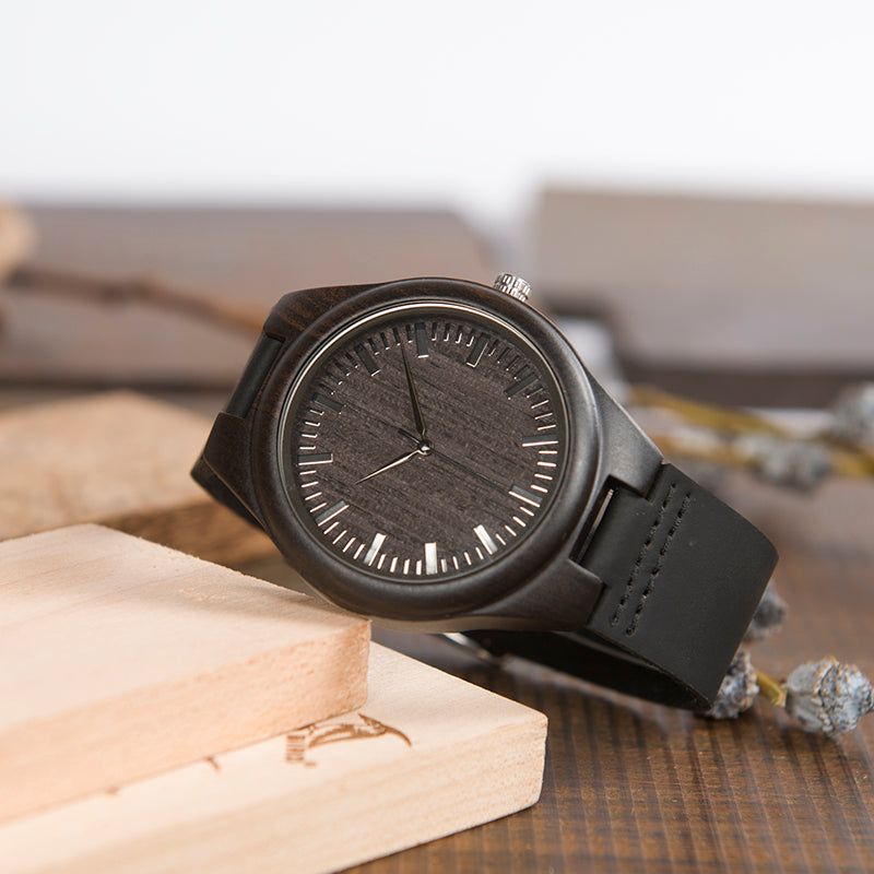 SON DAD - ALWAYS REMEMBER - WOOD WATCH