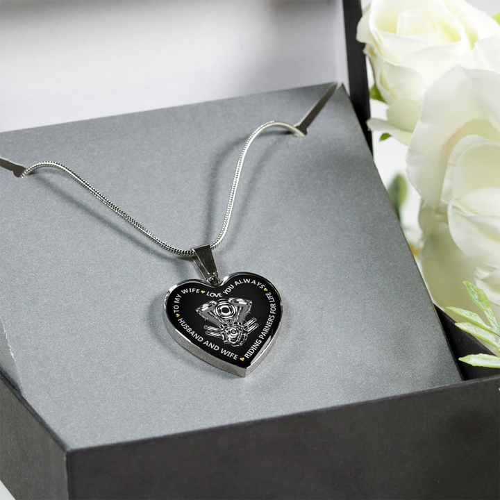 SILVER HEART NECKLACE & BANGLE - RIDING PARTNERS
