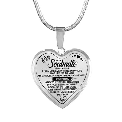 MY SOULMATE - LUXURY NECKLACE - REAL 18K GOLD FINISH & SILVER VERSION