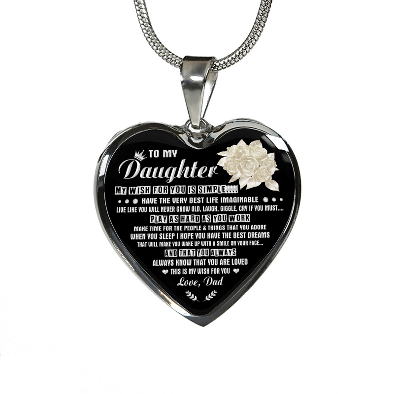 DAUGHTER DAD - MY WISH (SILVER)
