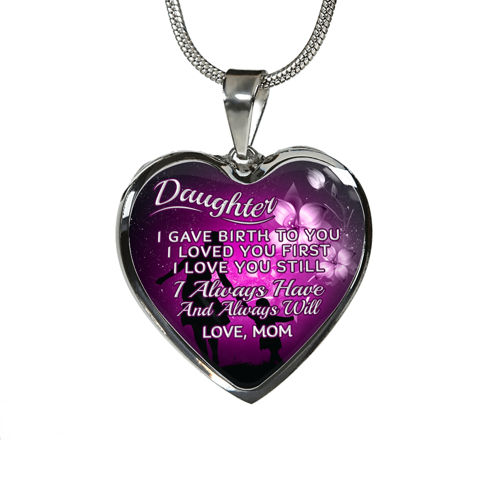 DAUGHTER MOM NECKLACE - ALWAYS HAVE ALWAYS WILL