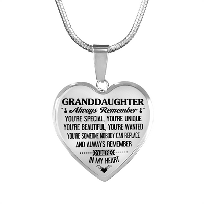GRANDDAUGHTER - HIGH QUALITY NECKLACE - BEST GIFT FOR HER