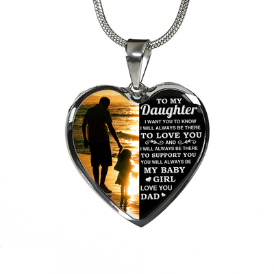 DAUGHTER DAD -  BABY GIRL (SILVER)