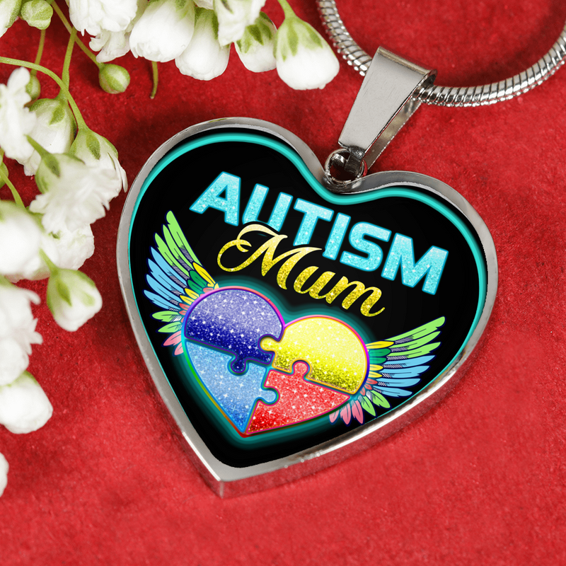 AUTISM MUM - SILVER VERSION - NECKLACE & BANGLE