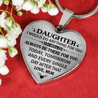DAUGHTER MUM - HIGH QUALITY NECKLACE - BEST GIFT FOR YOUR DAUGHTER