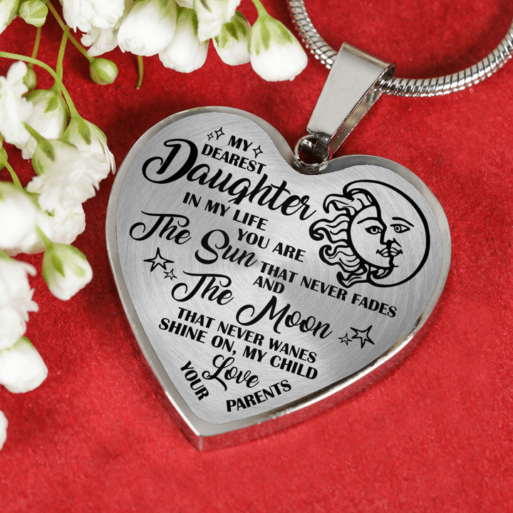MY DEAREST DAUGHTER - REAL 18K GOLD FINISH VERSION & SILVER VERSION