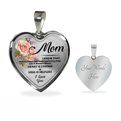 TO MY MOM - PRECIOUS PRESENT FOR YOUR MOTHER - REAL 18K GOLD FINISH VERSION & SILVER VERSION