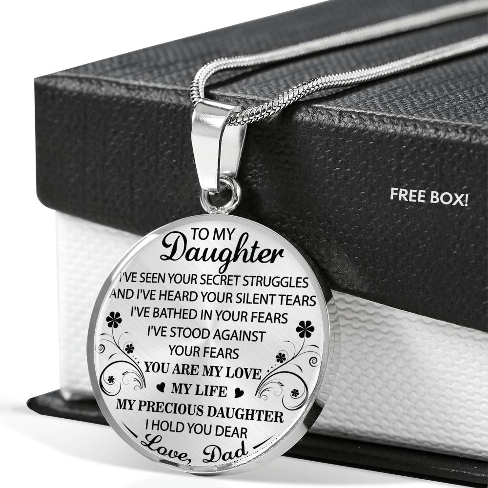 DAUGHTER DAD - YOU ARE MY LOVE - PREMIUM NECKLACE - ADD CUSTOM ENGRAVING OPTION