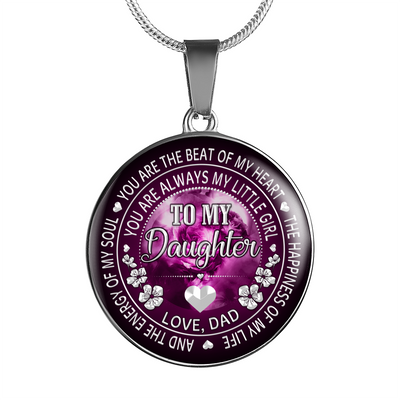 DAUGHTER DAD - LITTLE GIRL (SILVER)