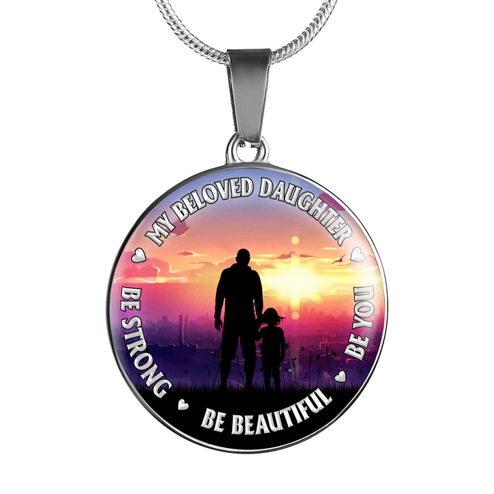 FATHER AND DAUGHTER - ROUND NECKLACE