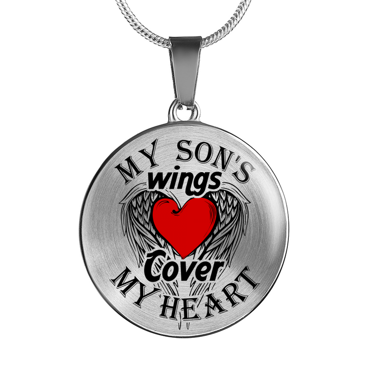 MY SON'S WINGS - REAL 18K GOLD FINISH & SILVER