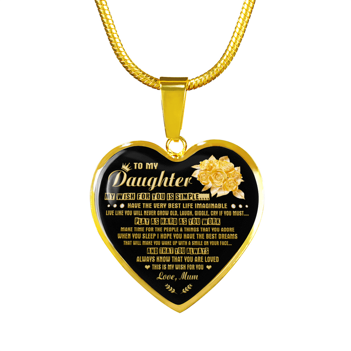 DAUGHTER MUM - MY WISH (GOLD)