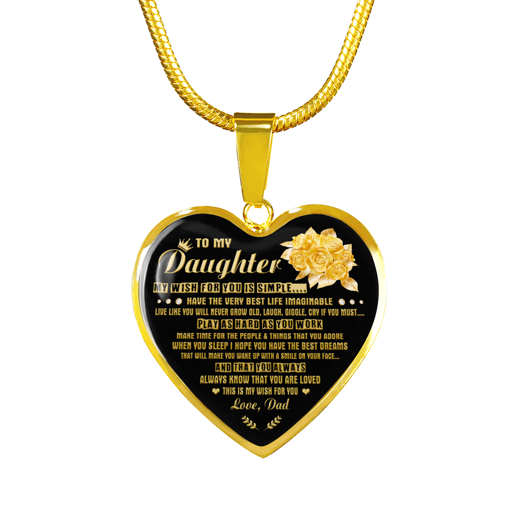 DAUGHTER DAD - MY WISH (GOLD)