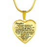 DAUGHTER FATHER NECKLACE - REAL 18K GOLD FINISH & SILVER