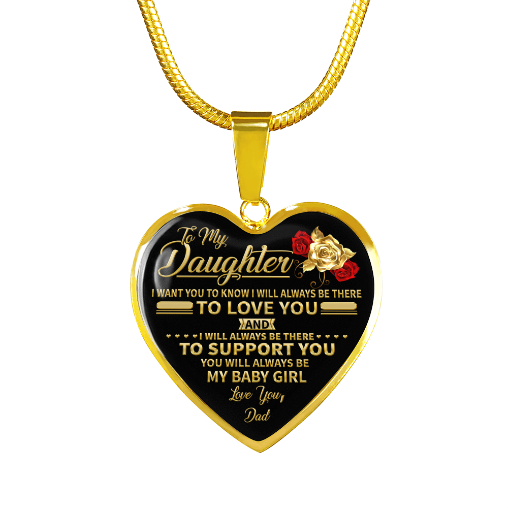DAUGHTER DAD - MY BABY GIRL (18K GOLD FINISH)
