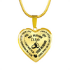 MY FUTURE WIFE - NECKLACE - SPECIAL GIFT - REAL 18K GOLD FINISH + SILVER