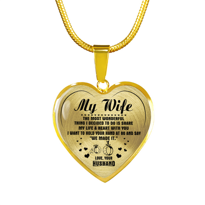 MY WIFE - REAL 18K GOLD FINISH - NECKLACE & BANGLE