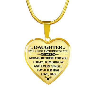 DAUGHTER DAD - HIGH QUALITY NECKLACE - BEST GIFT FOR YOUR DAUGHTER