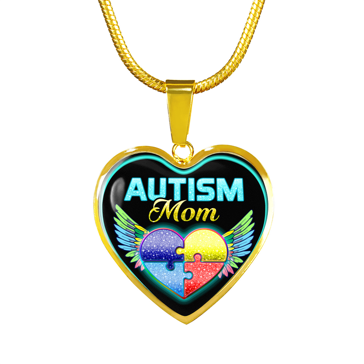 FOR AUTISM MOMS - REAL 18K GOLD FINISH - NECKLACE & BANGLE