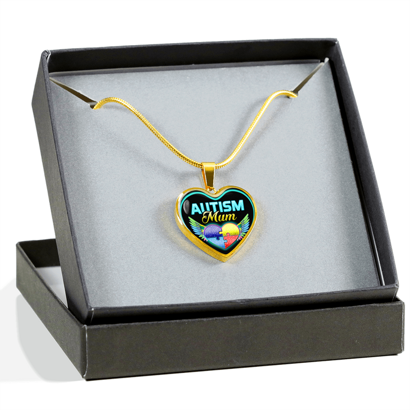 AUTISM MUM - REAL 18K GOLD FINISH - NECKLACE & BANGLE