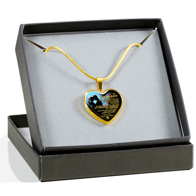TO MY HUSBAND IN HEAVEN - REAL 18K GOLD FINISH